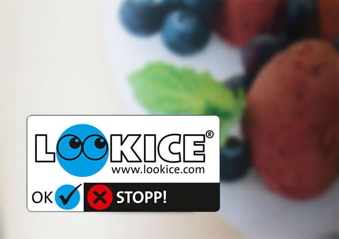 LOOKICE Etikett blau